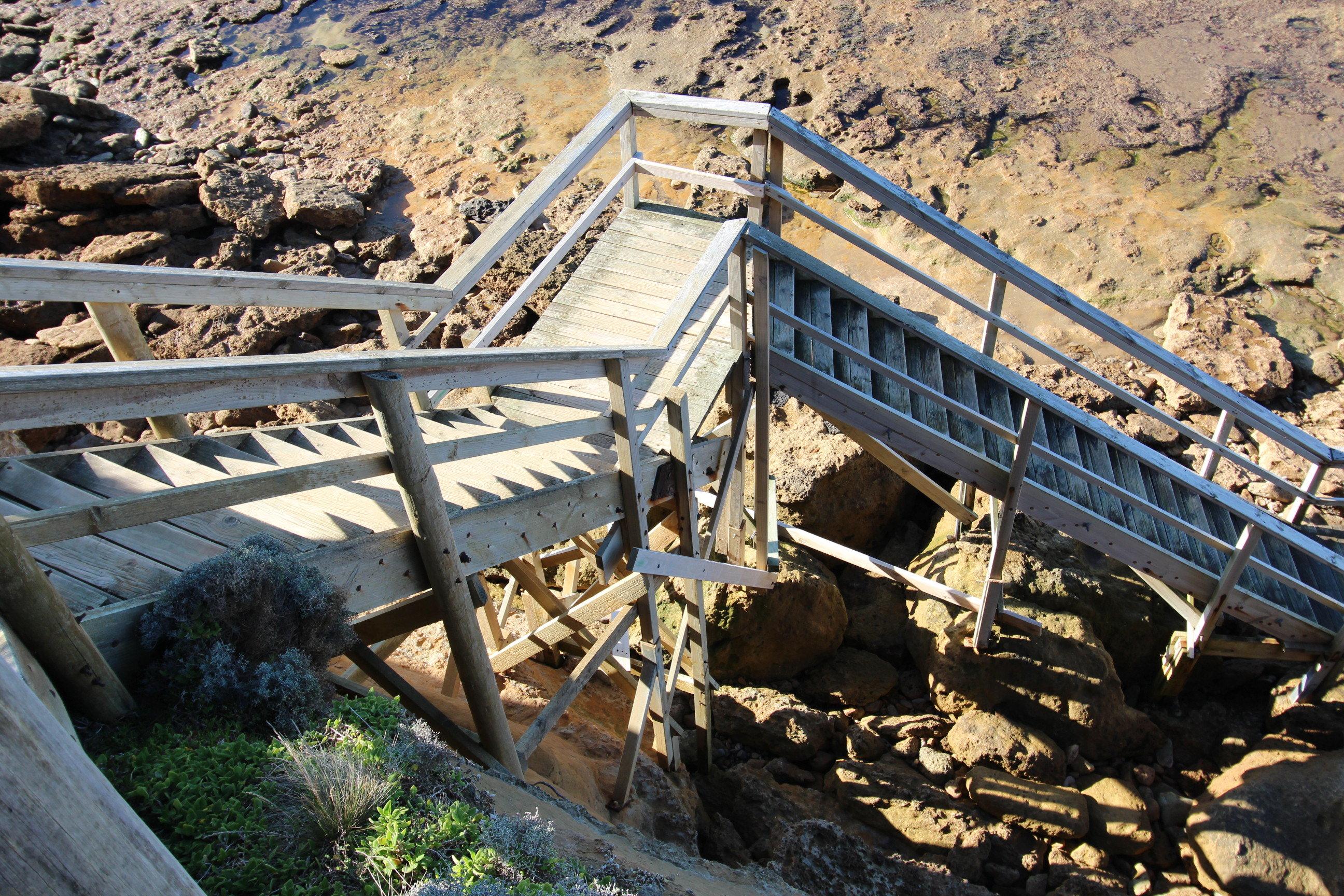 Steps access stair replacement - Jan Juc - Great Ocean Road